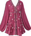 Snowflake Embroidered Tunic