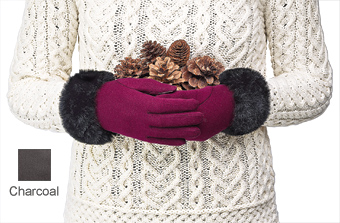 Gloves with  Faux-Fur Trim