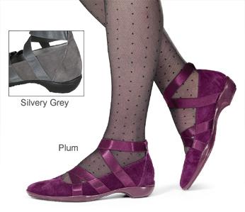 Ribbon-Strap Ballet Slippers