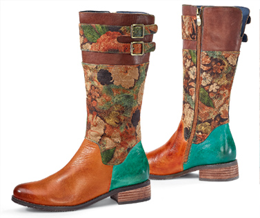 Autumn Flowers Boots