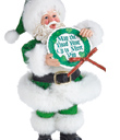 Irish Proverb Santa Ornament