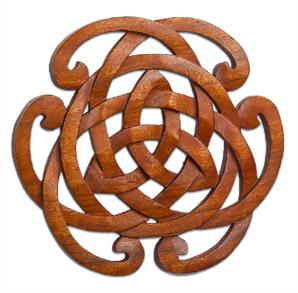 Knotwork Horseshoe Wood Plaque