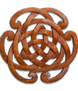 Knotwork Horseshoe Wood Plaque