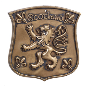 Bronze Rampant Lion Plaque