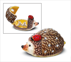 Hedgehog and Ladybug Trinket Box