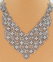 Floral Chainmail Necklace
