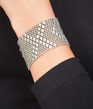 Metal Chevrons Bracelet