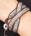 Silvery Wrap Bracelet