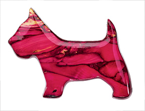Heathergems Scottie Brooch