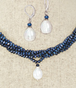 Midnight Ocean Necklace and Earrings Set