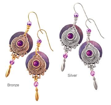 Violet Quatrefoil Earrings