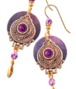 Violet Quatrefoil Earrings