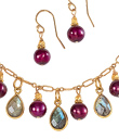 Gold and Merlot Pearl Jewelry