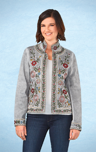 Embroidered Flowers Jacket