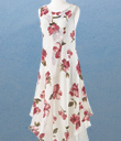 Cream and Rouge Layered Dress