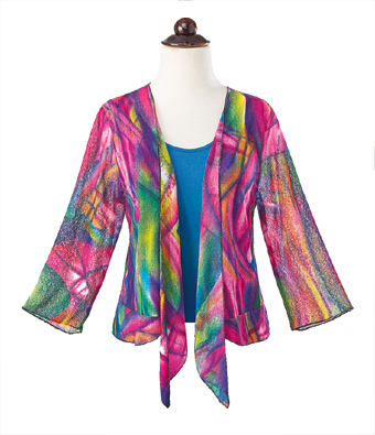 Technicolor Sheer Shrug