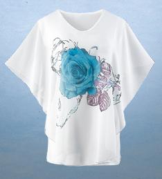 Blue Rose Top