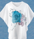 Blue Rose Top