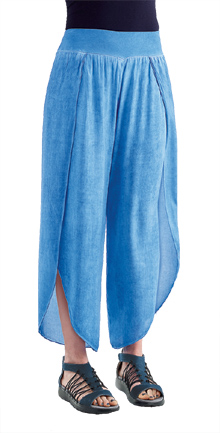 Blue Sky Enzyme-Wash Wrap Pants