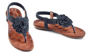 Black Rose Sandals