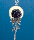 Black Rose & Moon Pendant