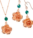 Rose Gold Roses Jewelry