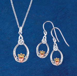 Tri-Tone Claddagh Jewelry