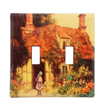 Two Gang Cottage Switch Plate