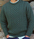 Shades of Green Aran Sweater