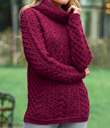 Berry Cowl-Neck Sweater