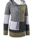 Pieced Color-Block Hoodie Sweater