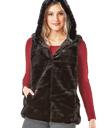 Faux Fur Hoodie Vest