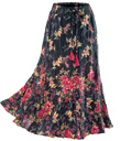 Wildflower Skirt with Red Tassels