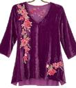 Amethyst Velvet Embroidered Tunic