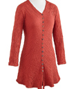 Button-front Pullover Tunic