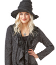 Magical Hat & Black Ruffle Topper