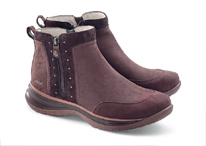 Studded & Zipped Walking Boots