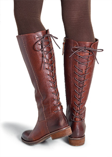 Back-Laced Boots