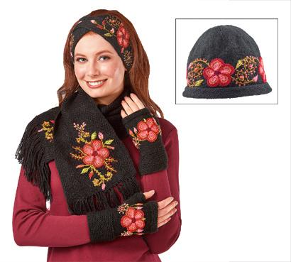 Bright Blossoms Knit Accessories
