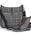 Plaid Satchel & Boots