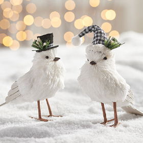 Two Birds in Hats