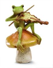 Fiddle-Playing Frog