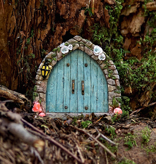 Blue Fairy Door