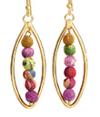 Sari Bead Earrings
