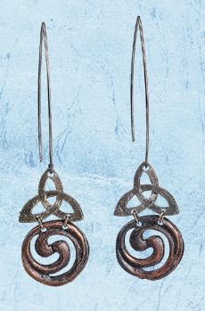 Trinity Knot & Spiral Earrings