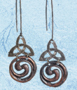 Trinity Knot & Spiral Earrings