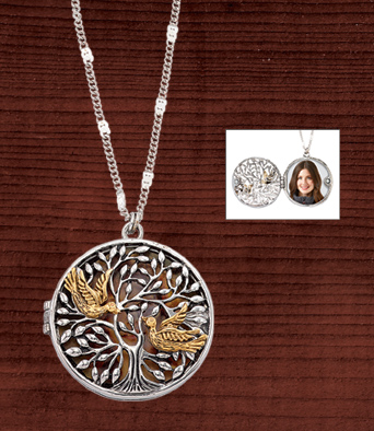 Birds and Tree Locket