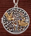 Birds and Tree Locket