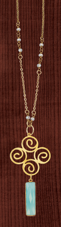 Spirals and Chalcedony Necklace