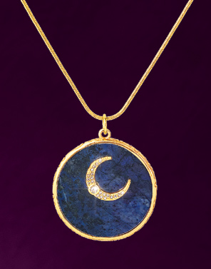 Sparkly Crescent Moon Pendant
